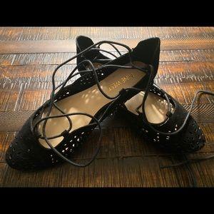 Nine West size 5 1/2 lace up ballet flats
